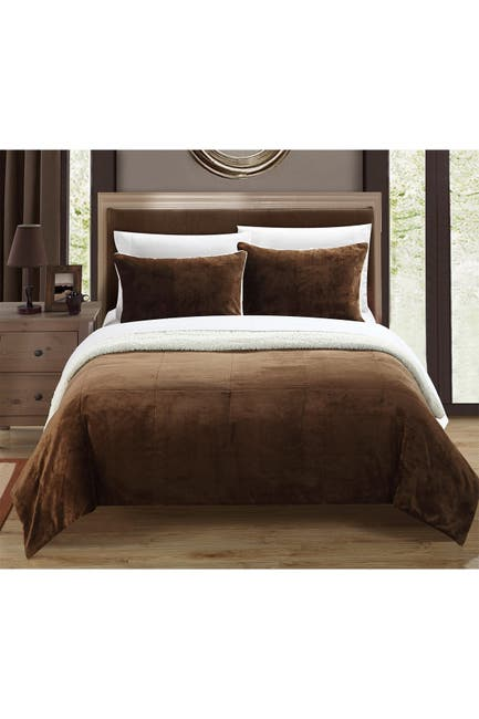 Image of Chic Home Bedding King Evelyn Blanket Set - Brown