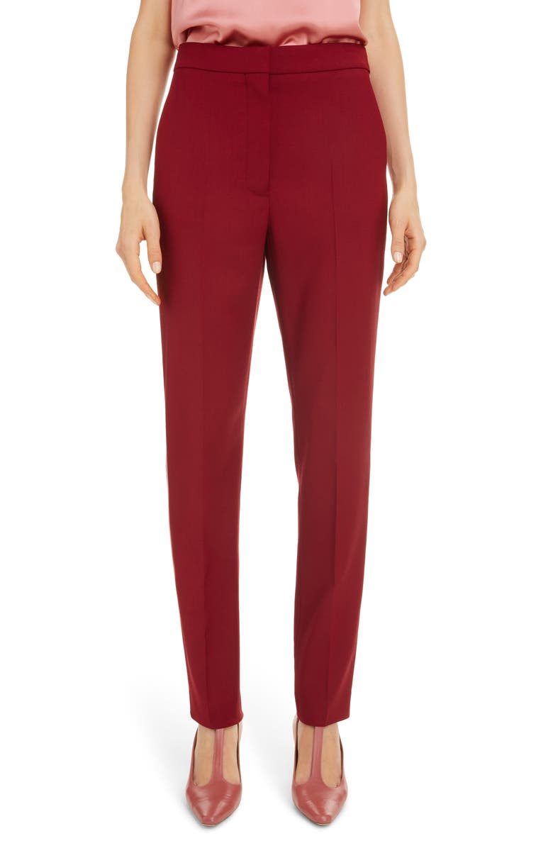 ROKSANDA Side Stripe Straight Leg Pants, Main, color, AMARANTHUS/ ROSE