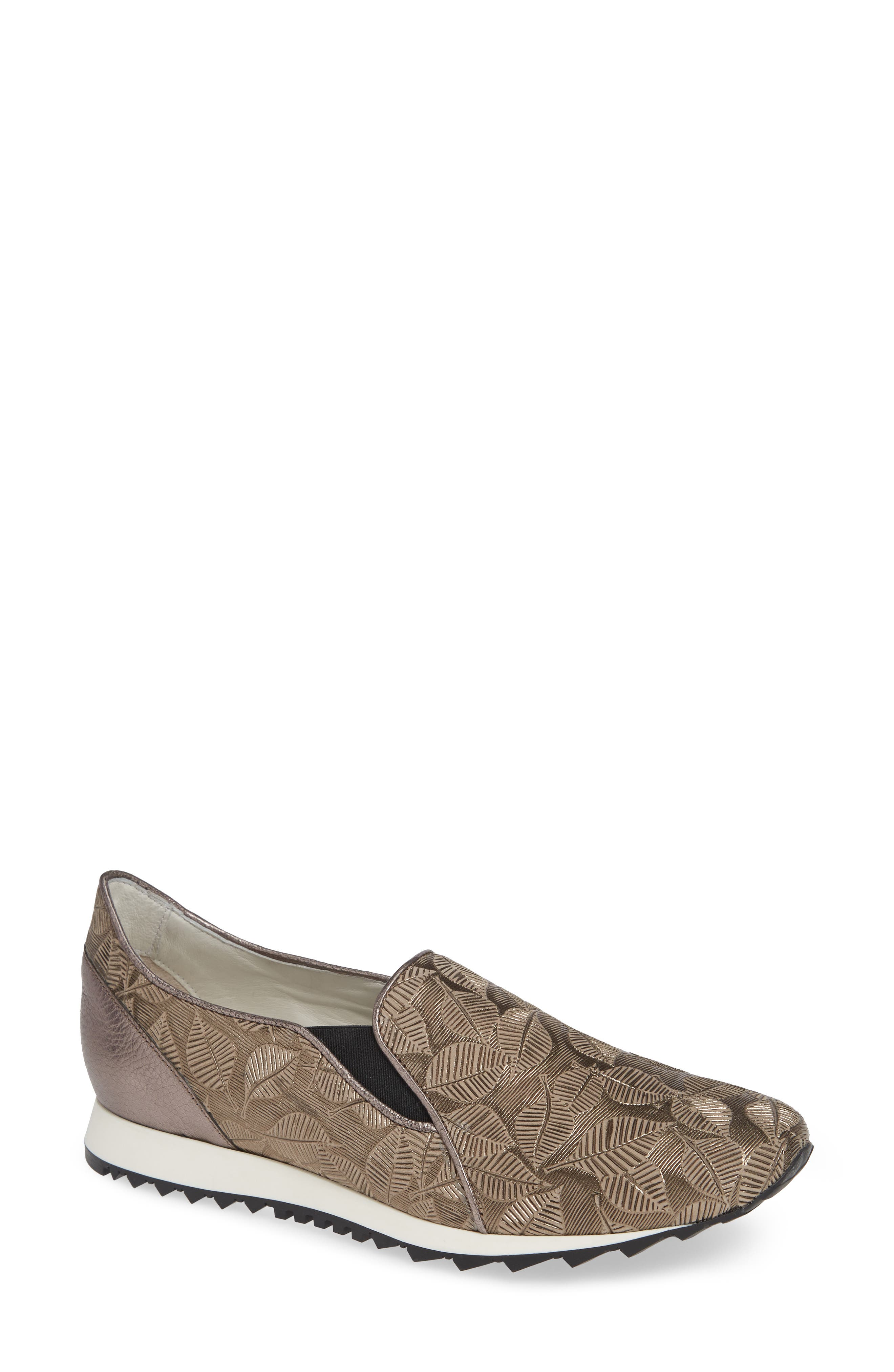Francia Slip-On Sneaker, Main, color, TAUPE LEATHER