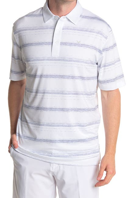 Image of CALLAWAY GOLF Stripe Print Short Sleeve Polo