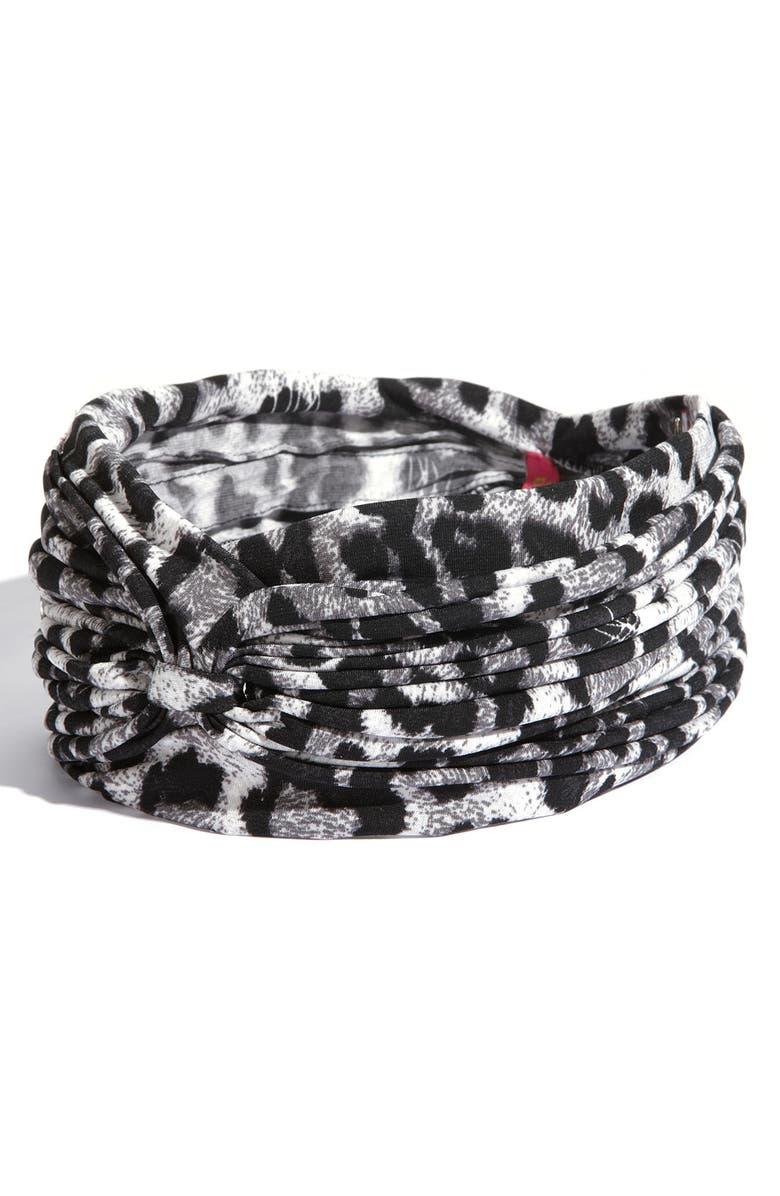 CARA Accessories 'Animal Urban Turban' Head Wrap, Main, color, 001