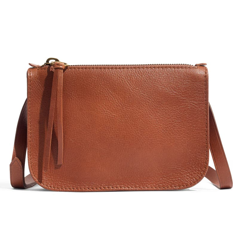 MADEWELL The Simple Pouch Belt Bag, Main, color, ENGLISH SADDLE