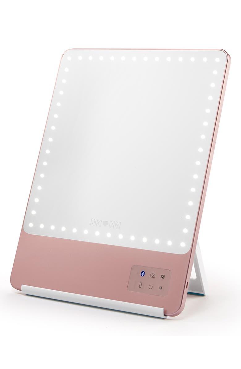 RIKI LOVES RIKI RIKI Skinny Lighted Mirror, Main, color, ROSE GOLD