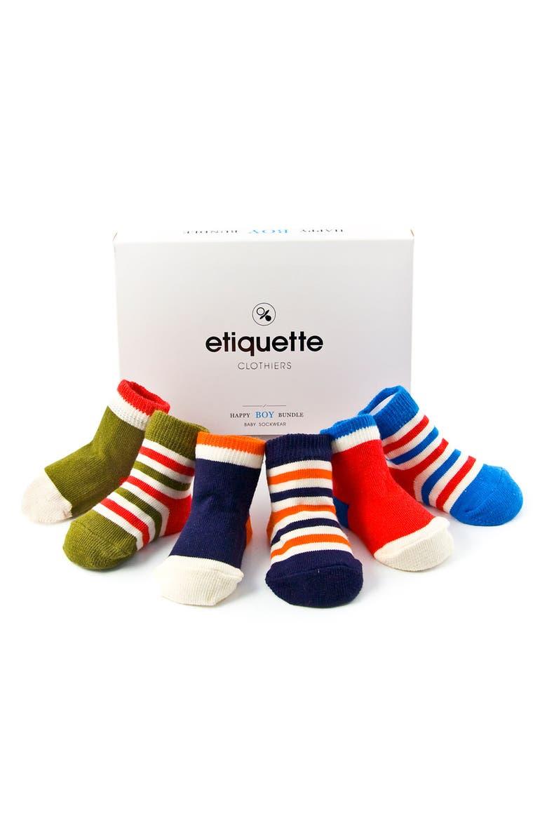 Etiquette Clothiers 'Happy Bundle' Socks (6-Pack) (Infant