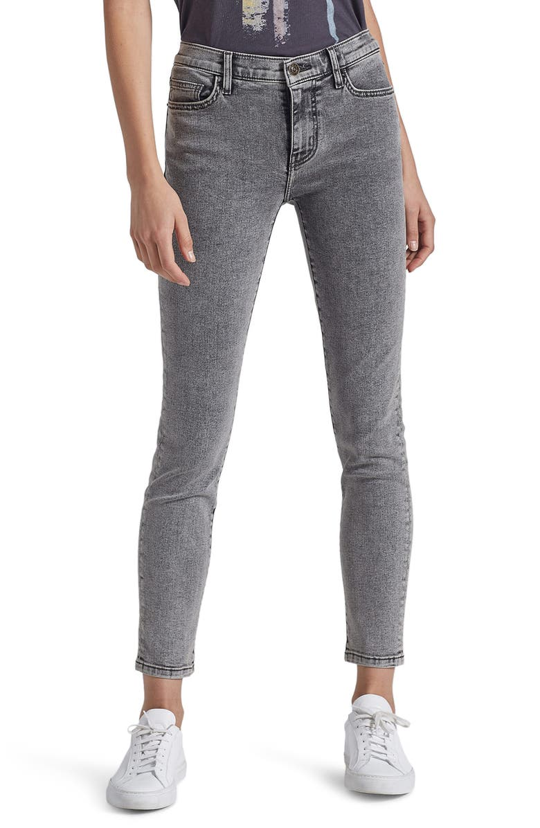 CURRENT/ELLIOTT The Original Stiletto Skinny Jeans, Main, color, SMOKE WASH