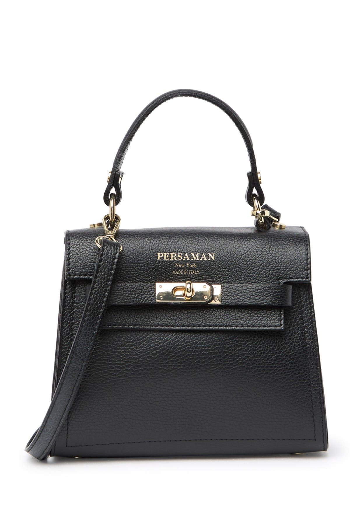 Image of Persaman New York Claire Leather Shoulder Bag