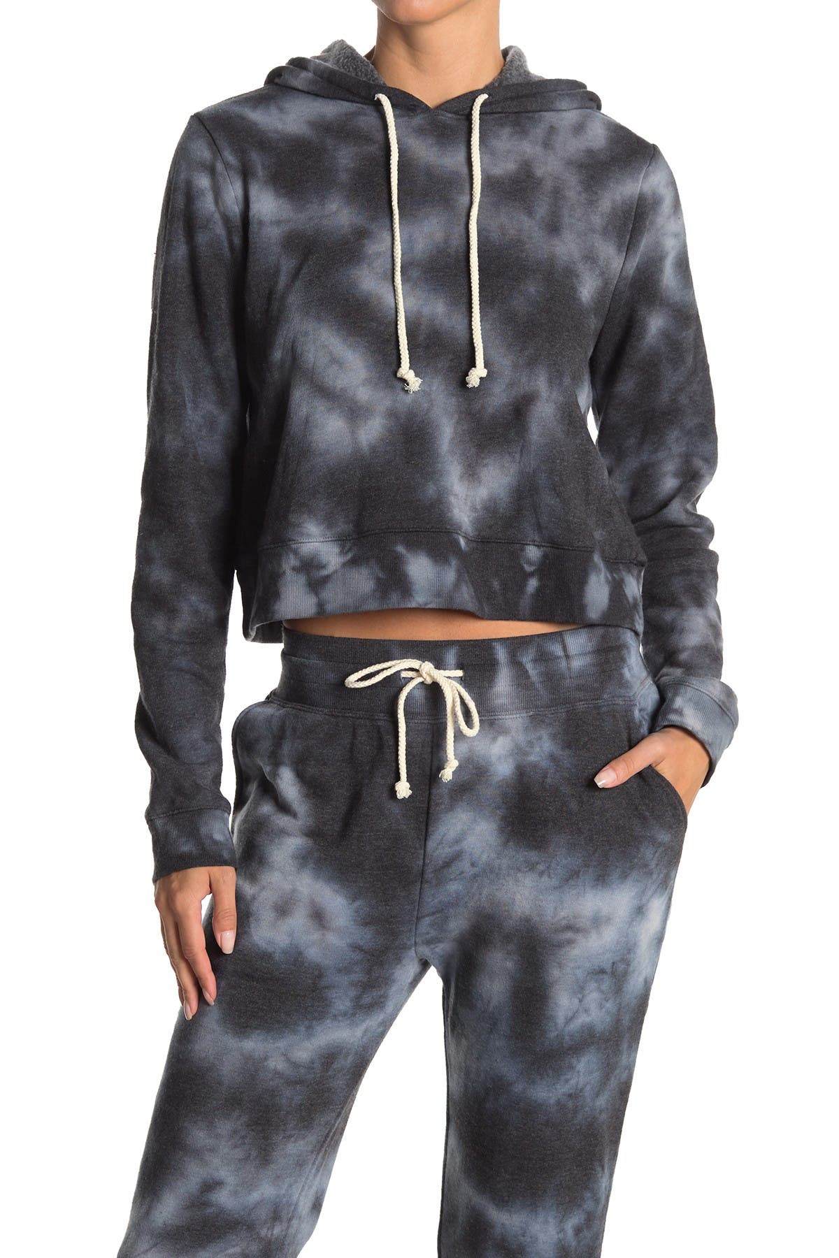 Image of Threads 4 Thought Rose Cloud Wash Crop Hoodie