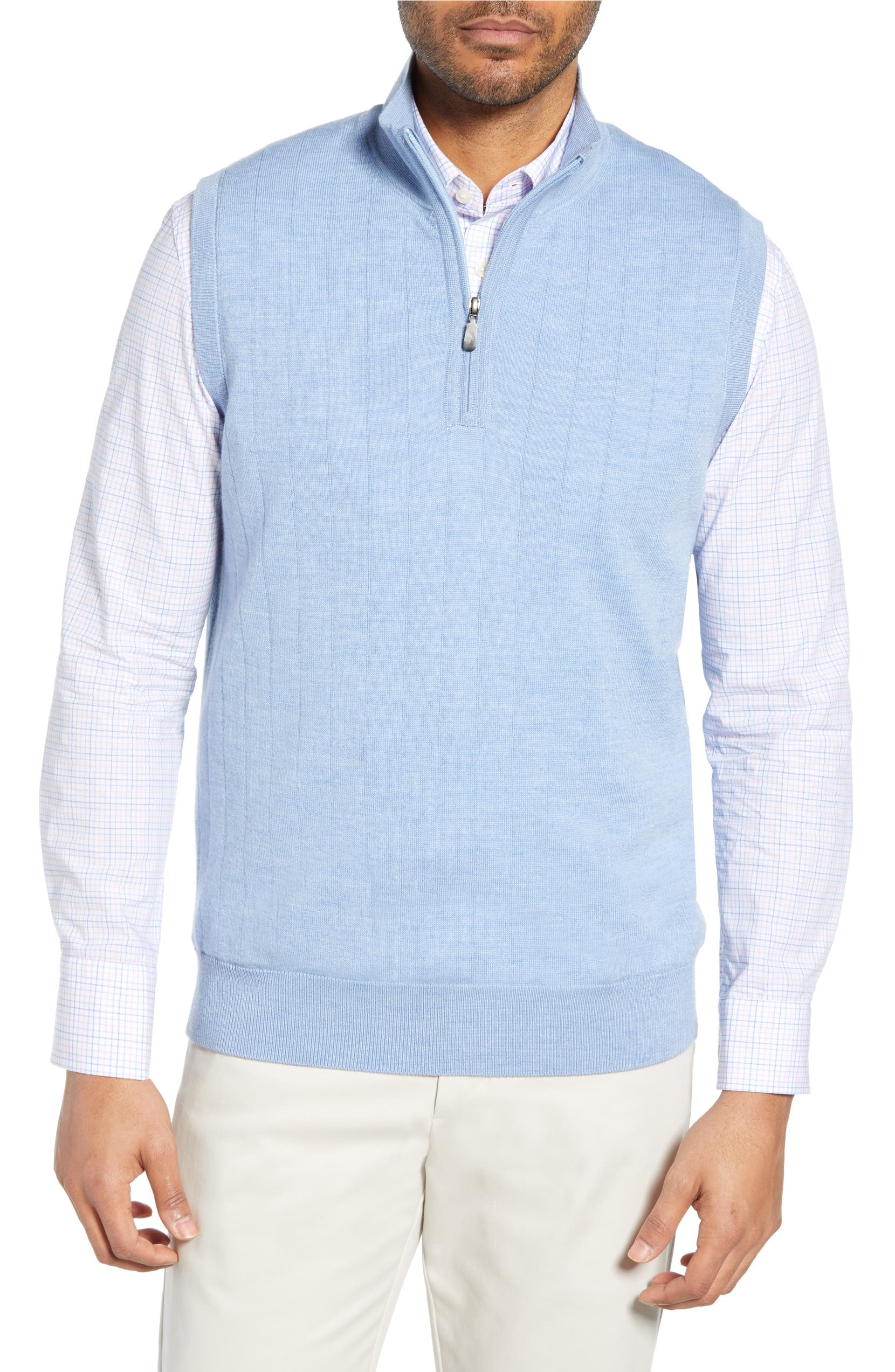 2fa3f9e88277fd Bobby Jones Quarter Zip Wool Sweater Vest | Nordstrom