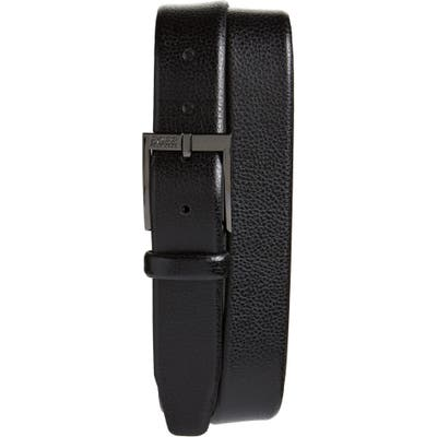 Boss Elloy Leather Belt, Black