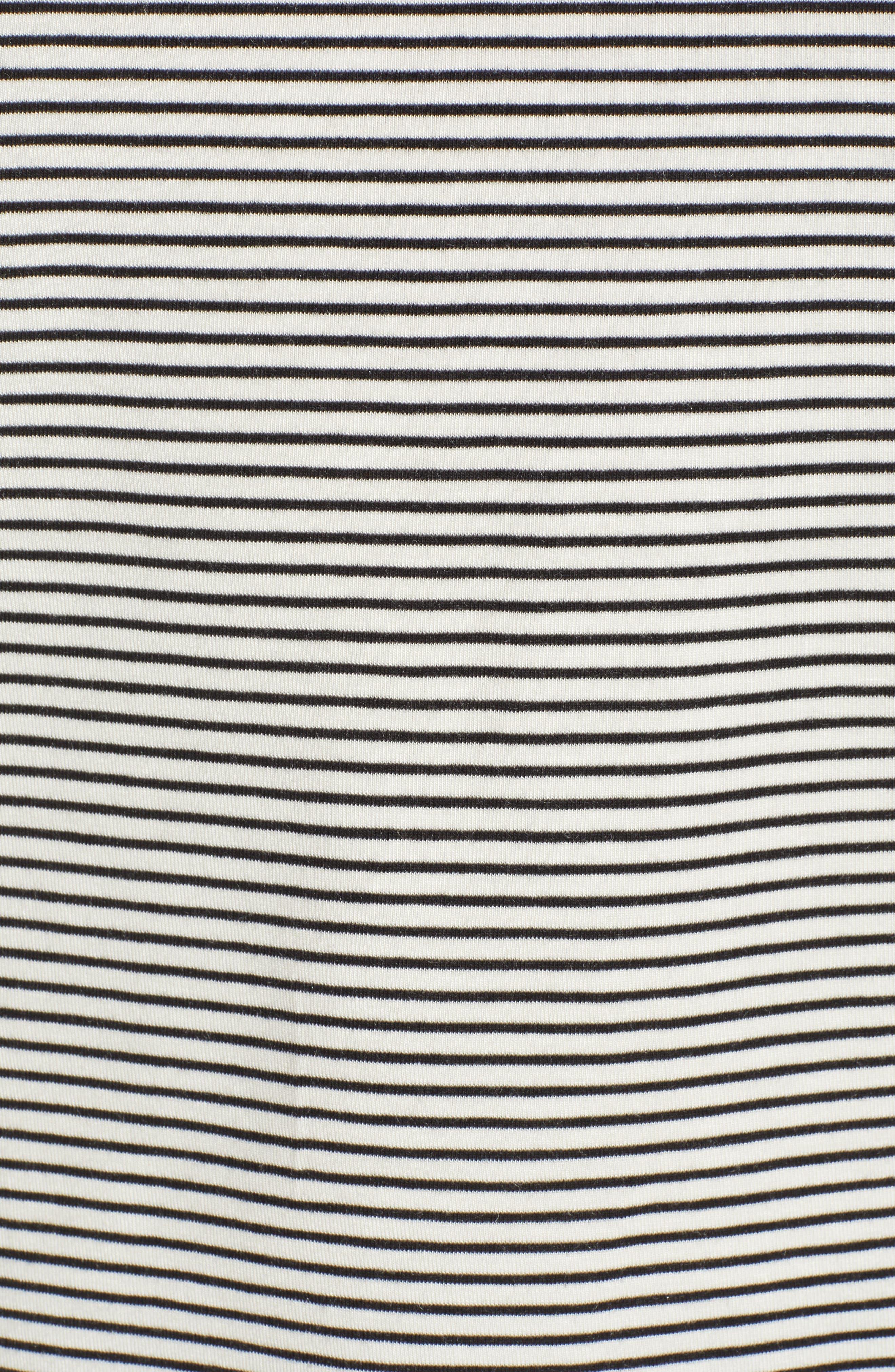 ,                             Ava Stripe Tee,                             Alternate thumbnail 5, color,                             WHITE STRIPE