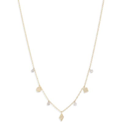Meira T Diamond Dangle Necklace