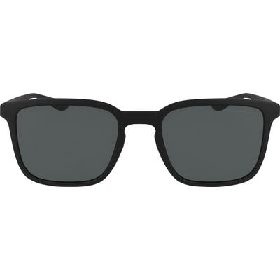 Nike Circuit Polarized Square Sunglasses - Matte Black/ Silver/ Polar Gr