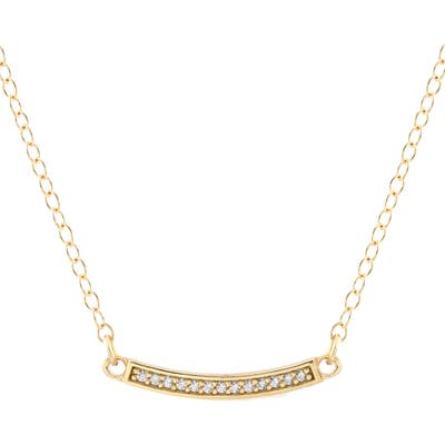 Kris Nations Pave Bar Charm Necklace