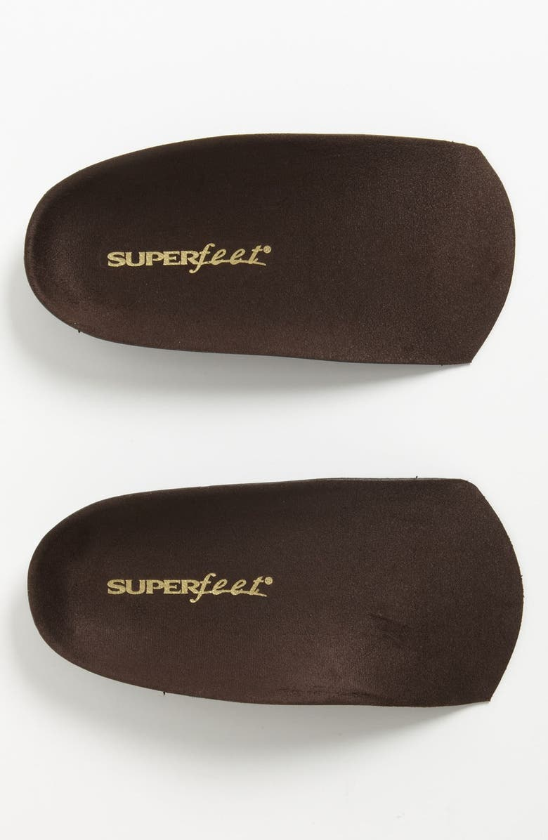 SUPERFEET 'Delux' Dress Fit Three Quarter Length Insoles, Main, color, BROWN