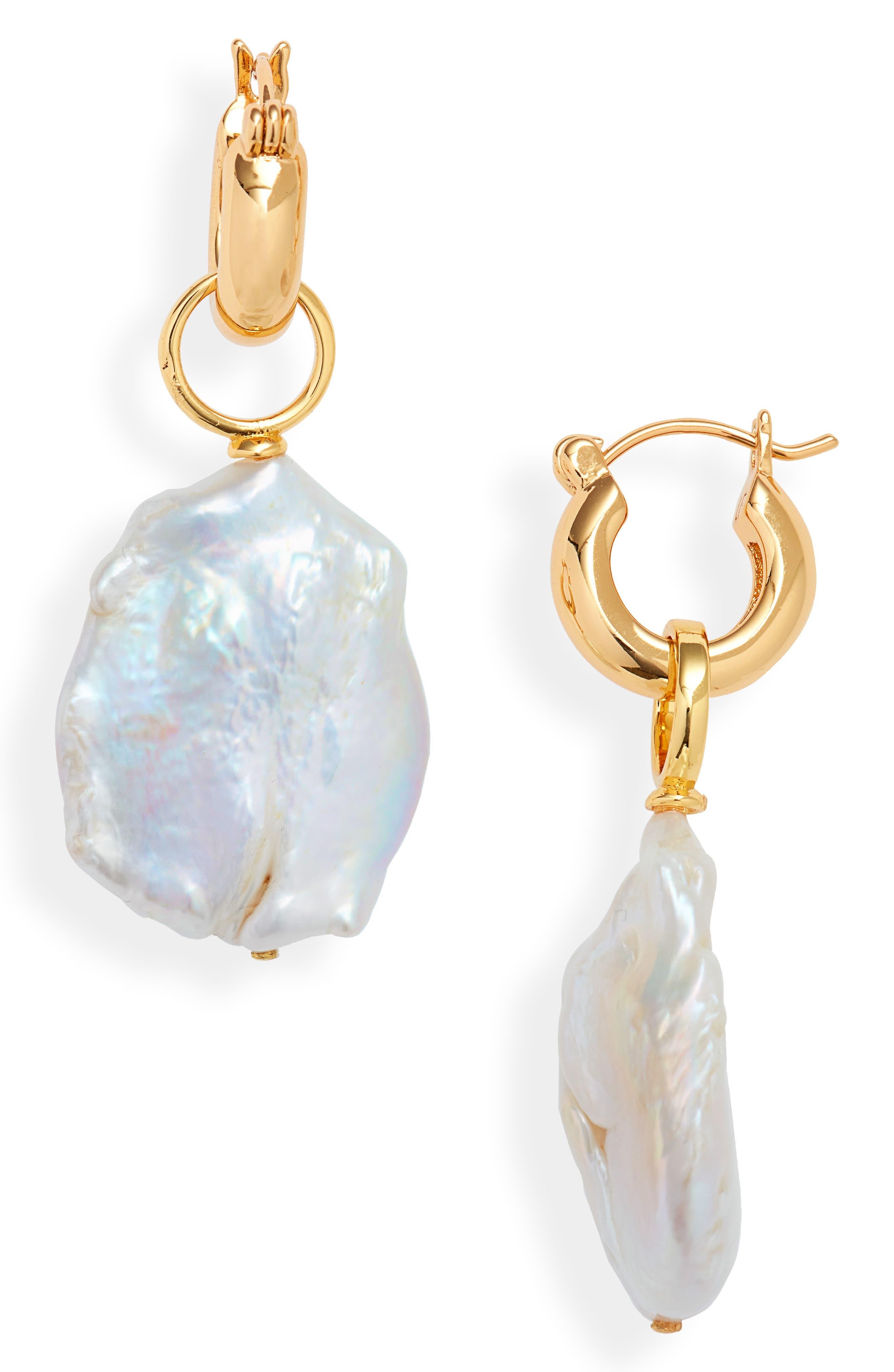 ,                             Pearl Drop Earrings,                             Main thumbnail 1, color,                             100
