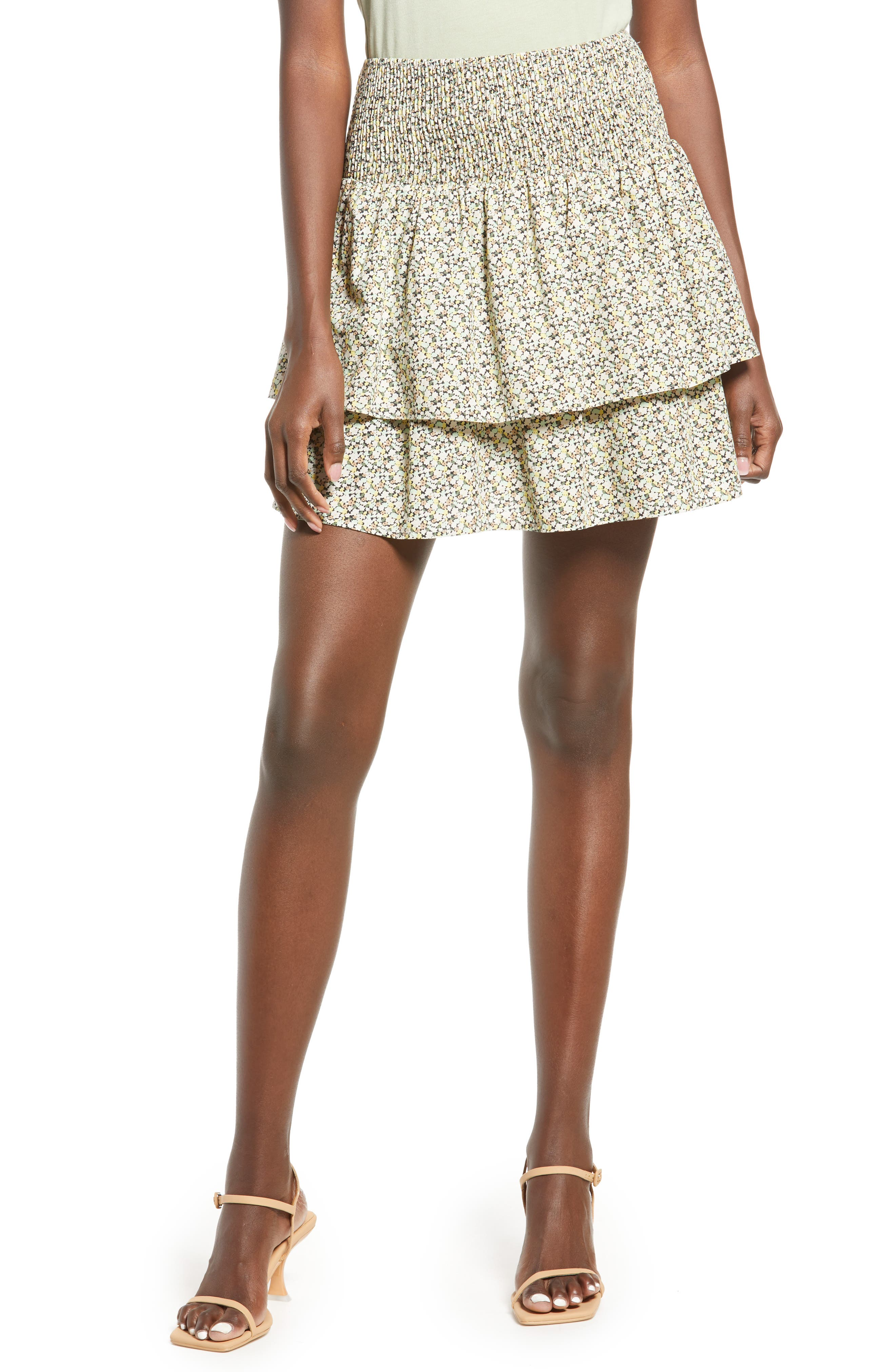 Girl/'s 4 Tiered Cotton Twill Mid-Calf Skirt