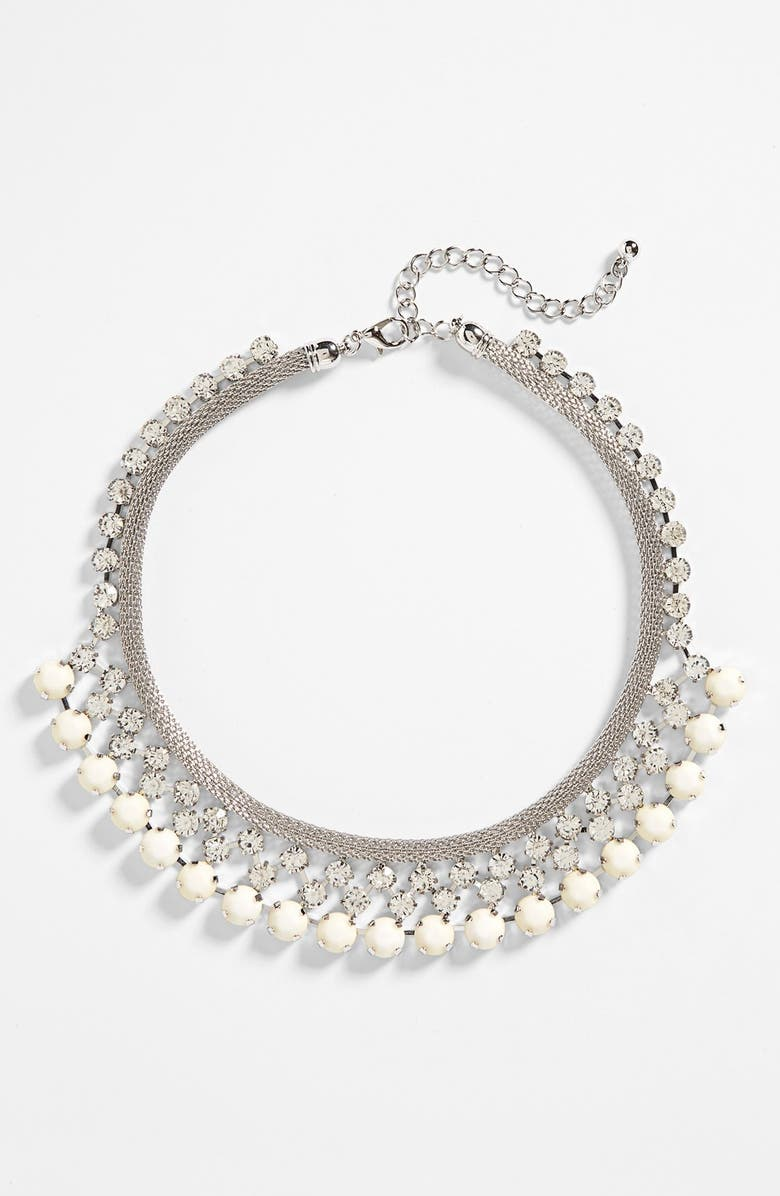 NATASHA COUTURE Crystal Statement Necklace, Main, color, 040