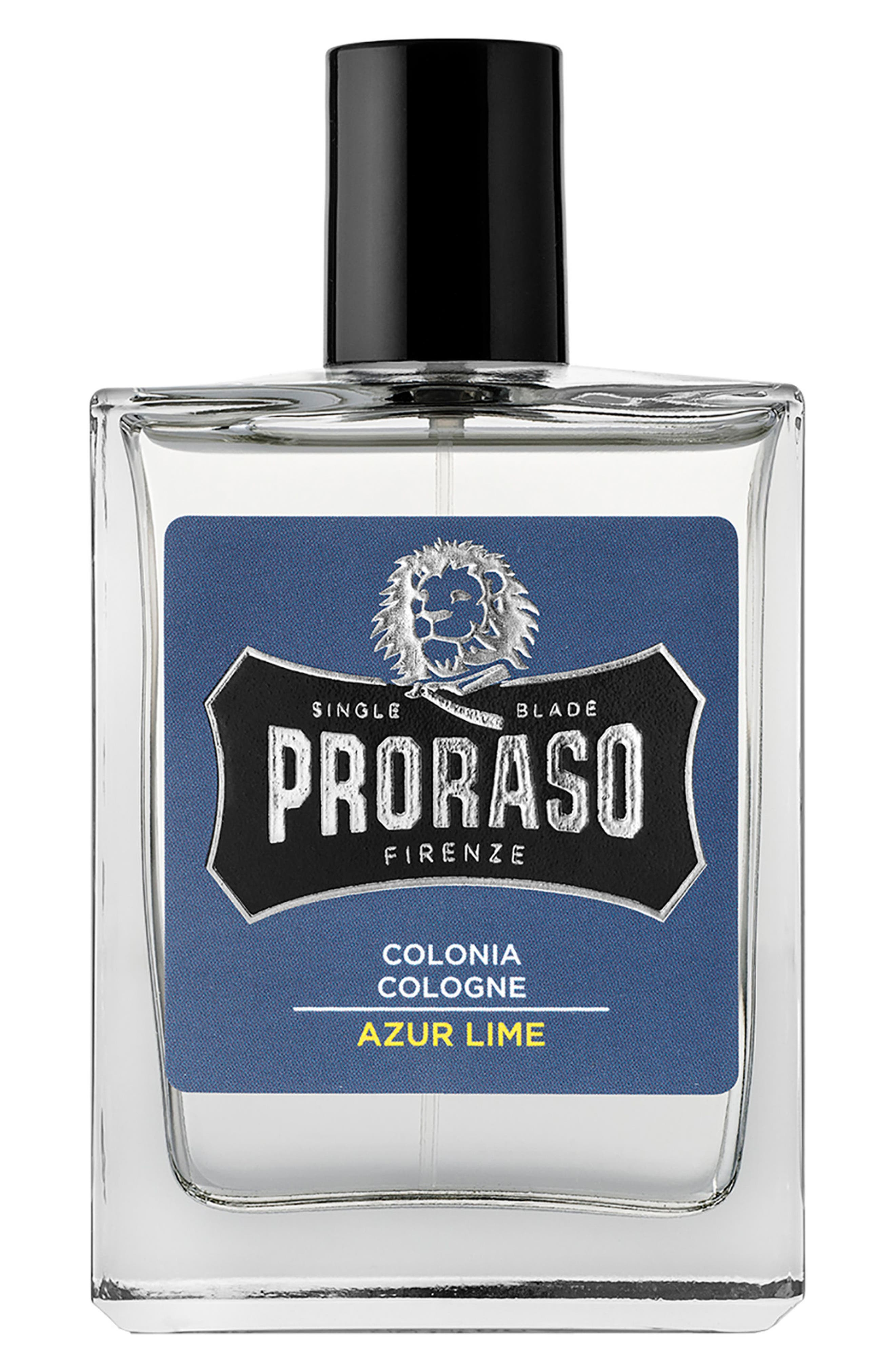 What it is: A cologne that makes the perfect finishing touch to the grooming ritual. Fragrance story: Azur Lime features the intense freshness of lemon and orange enriched with mint leaves. Juniper berries introduce a surprisingly creamy richness with hints of musk, wood and patchouli, leaving the skin and your senses feeling intensely refreshed. Style Name: Proraso Men\\\'s Grooming Azur Lime Cologne. Style Number: 5598513. Available in stores.