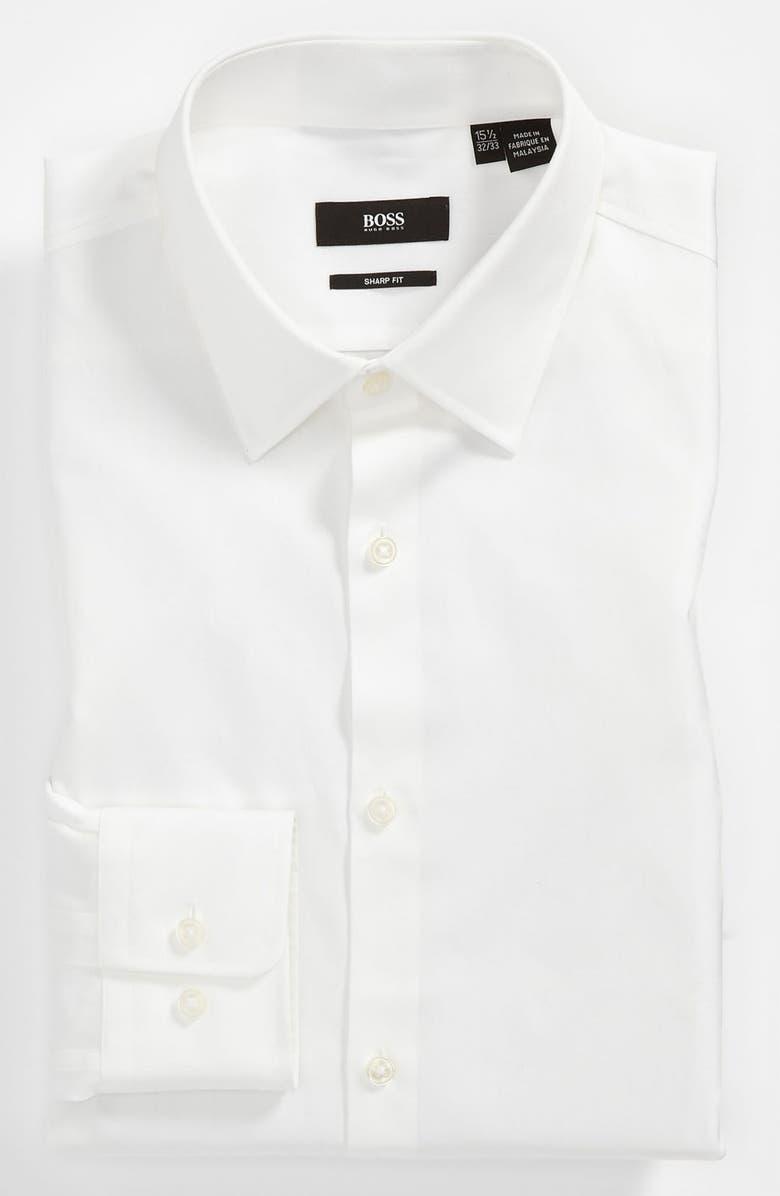 BOSS 'Marlow' Sharp Fit Dress Shirt, Main, color, 100