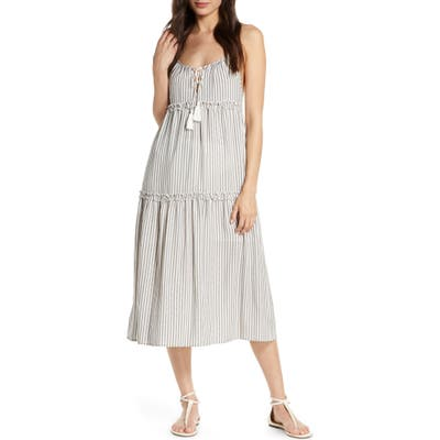 Chelsea28 Carmelita Tiered Cover-Up Dress, Grey