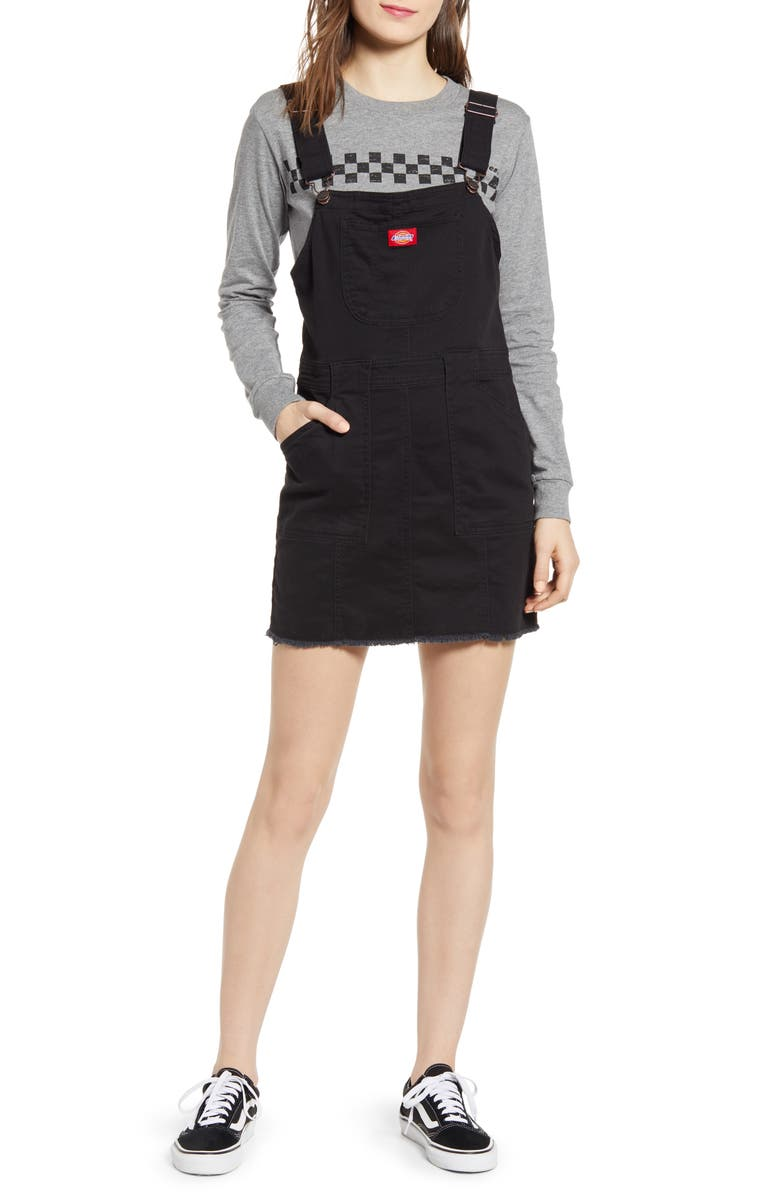 DICKIES Twill Overall Dress, Main, color, 001