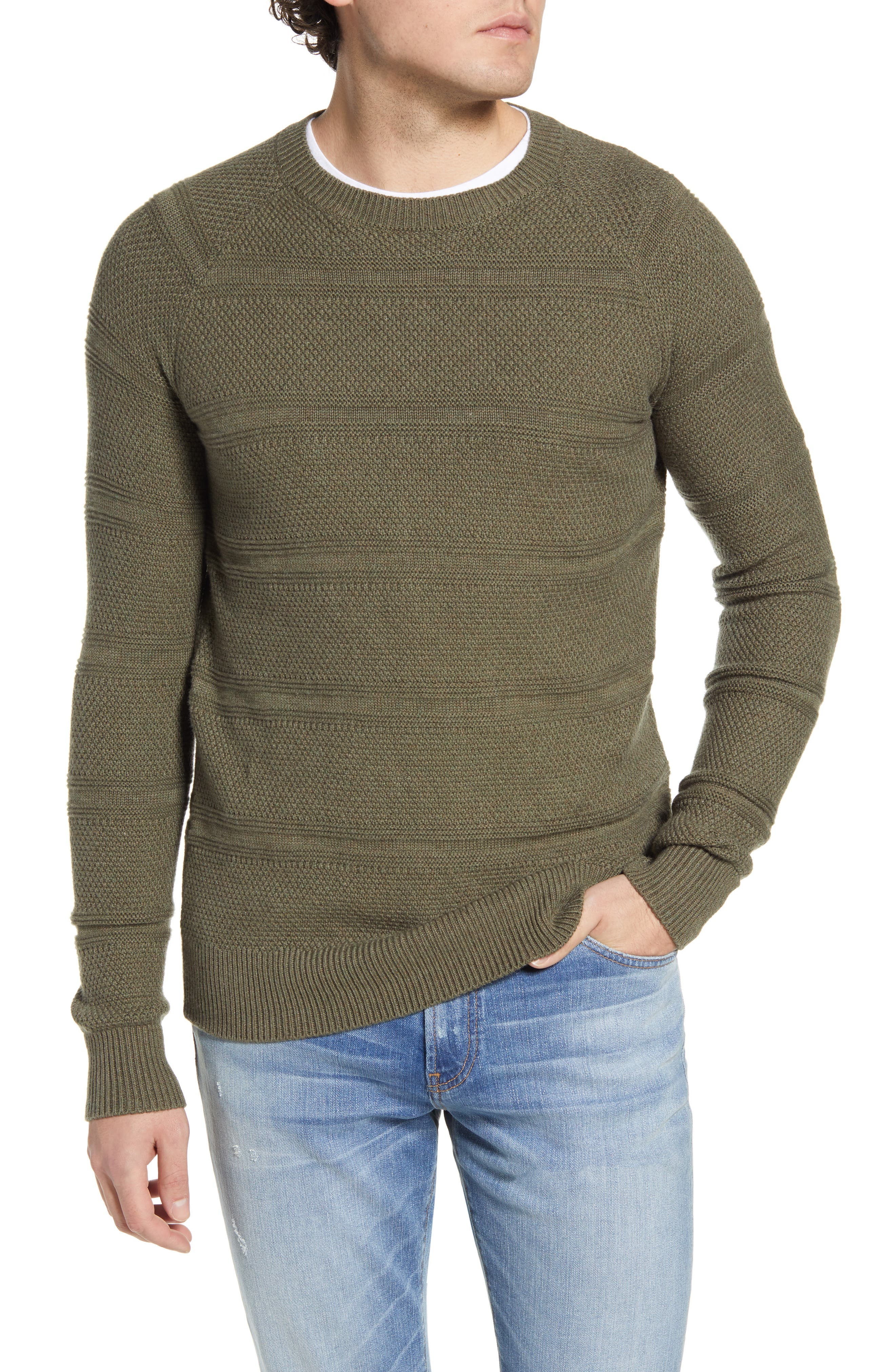 Image of Rails Axel Crewneck Seed Stitch Sweater