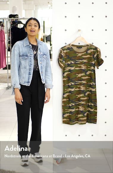 So Twisted Camo Print Cotton Blend T-Shirt Dress, sales video thumbnail