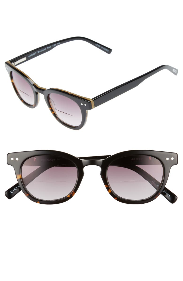 EYEBOBS Laid 46mm Reading Sunglasses, Main, color, TORTOISE WITH BLACK