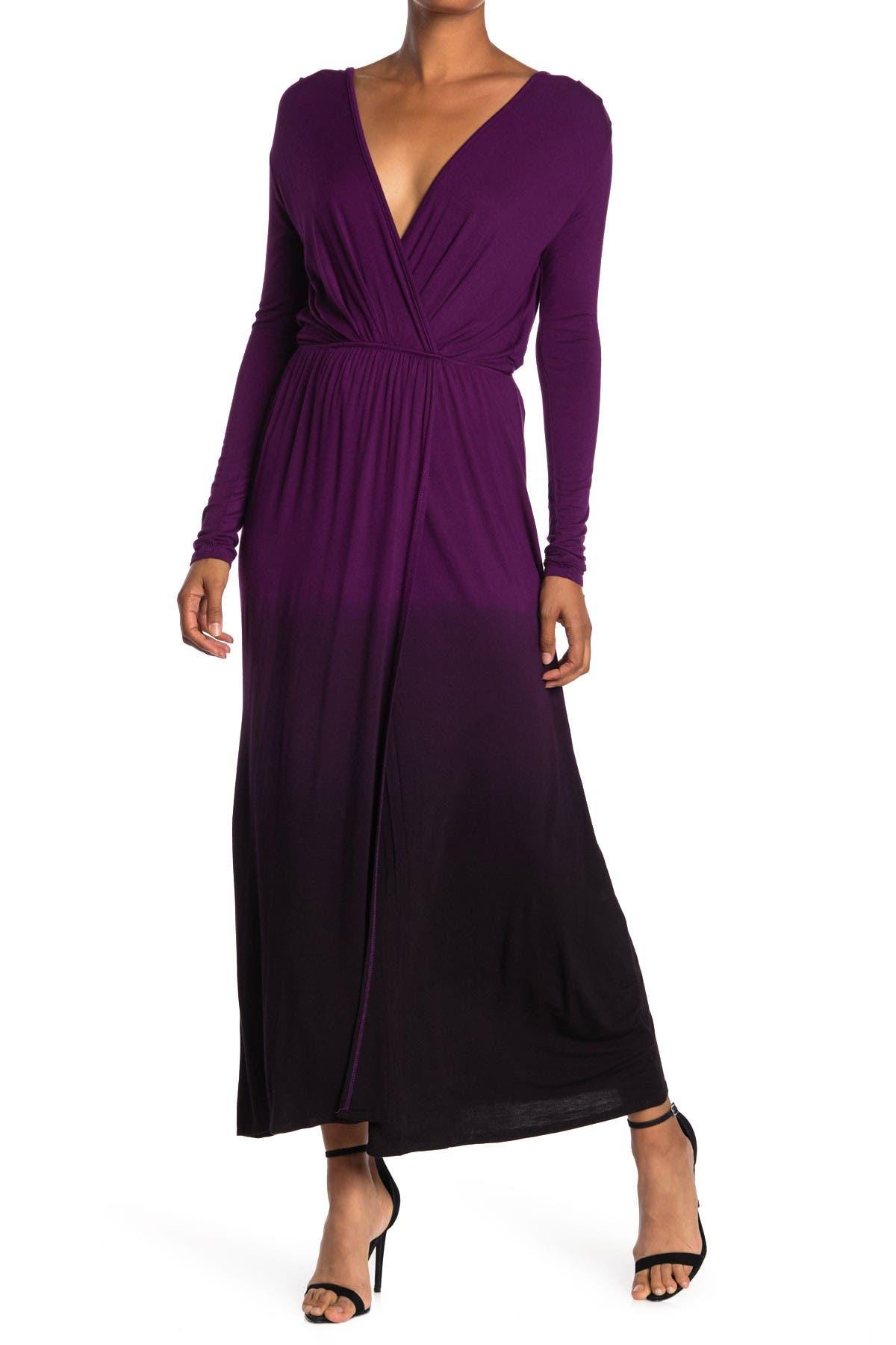 Image of Fraiche By J Tie-Dye Long Sleeve Maxi Dress