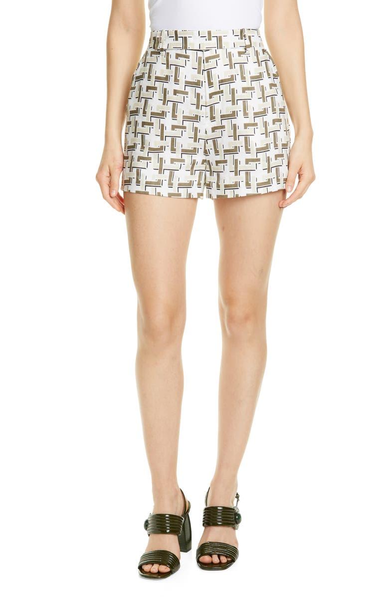 EQUIPMENT Jeannine Linen Shorts, Main, color, 110