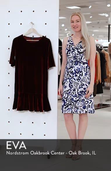 Ruffle Trim Velvet Dress, sales video thumbnail