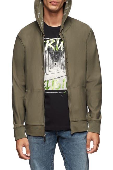 Image of True Religion Contrast Graphic Zip Jacket