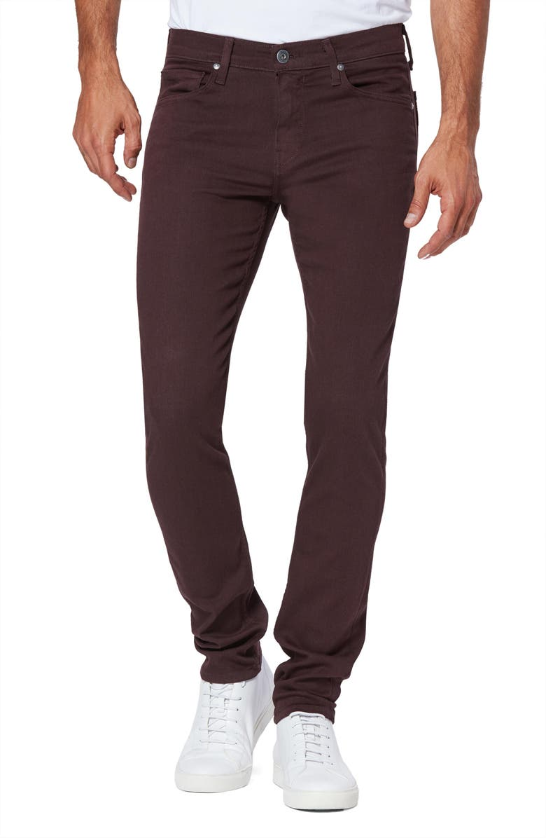 PAIGE Transcend - Croft Skinny Fit Jeans, Main, color, CHOCOLATE PLUM