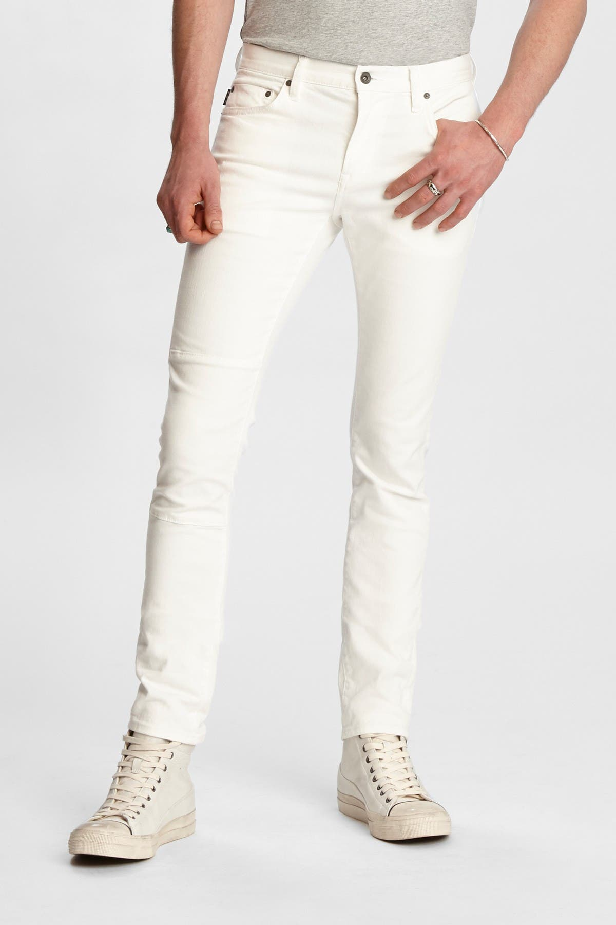 Image of John Varvatos Collection Wight Fit Knee Patch Jeans