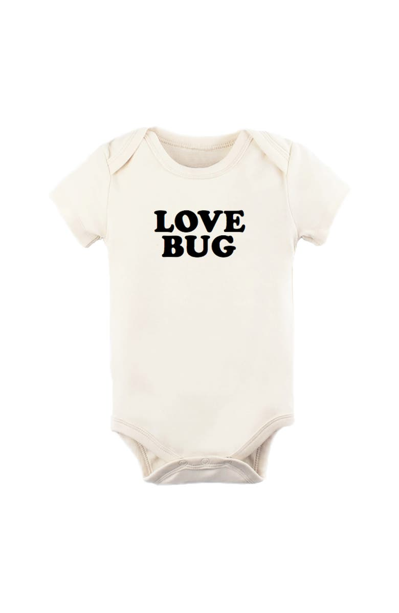 TENTH & PINE Love Bug Organic Cotton Bodysuit, Main, color, NATURAL