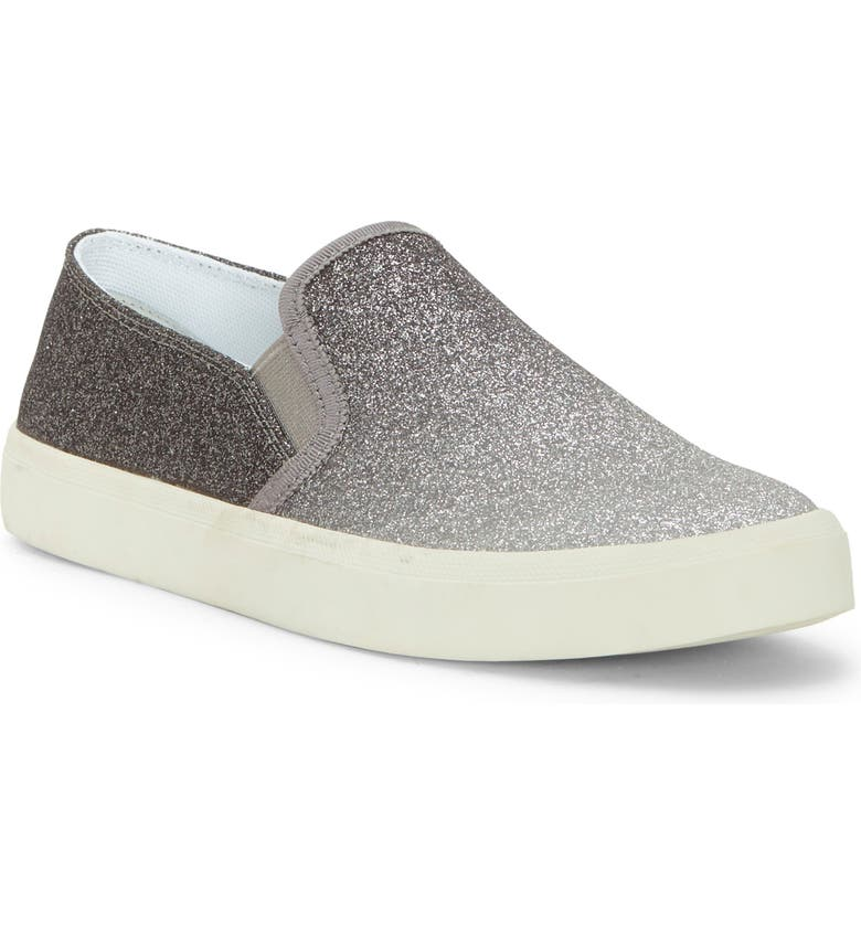 JESSICA SIMPSON Dinellia Slip-On Sneaker, Main, color, SILVER/ PEWTER LEATHER