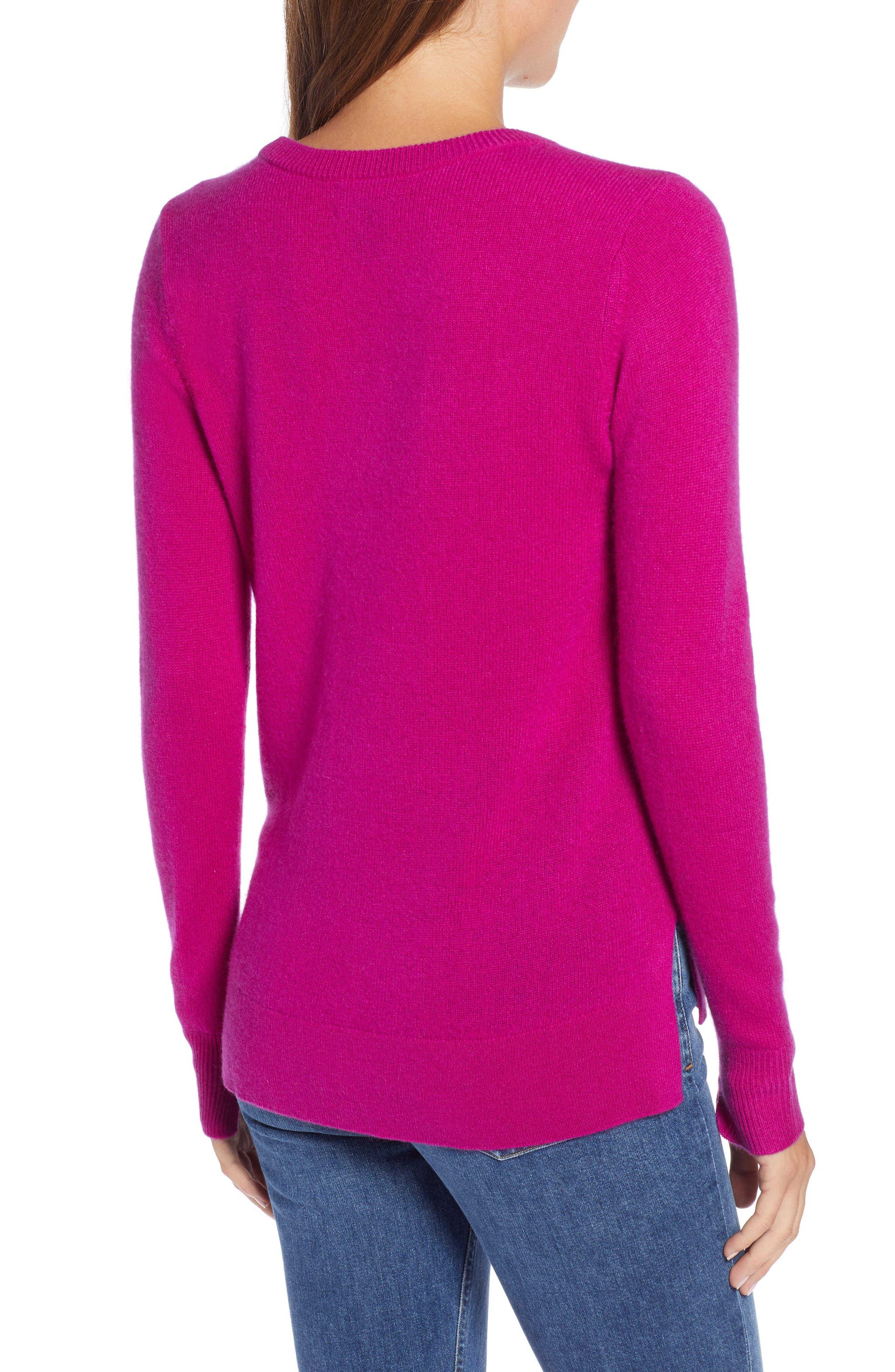 ,                             Crewneck Cashmere Sweater,                             Alternate thumbnail 173, color,                             652