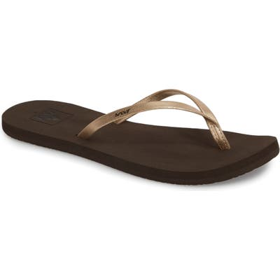 Reef Bliss Nights Flip Flop, Metallic