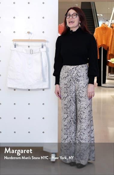 Belted White Denim Skirt, sales video thumbnail