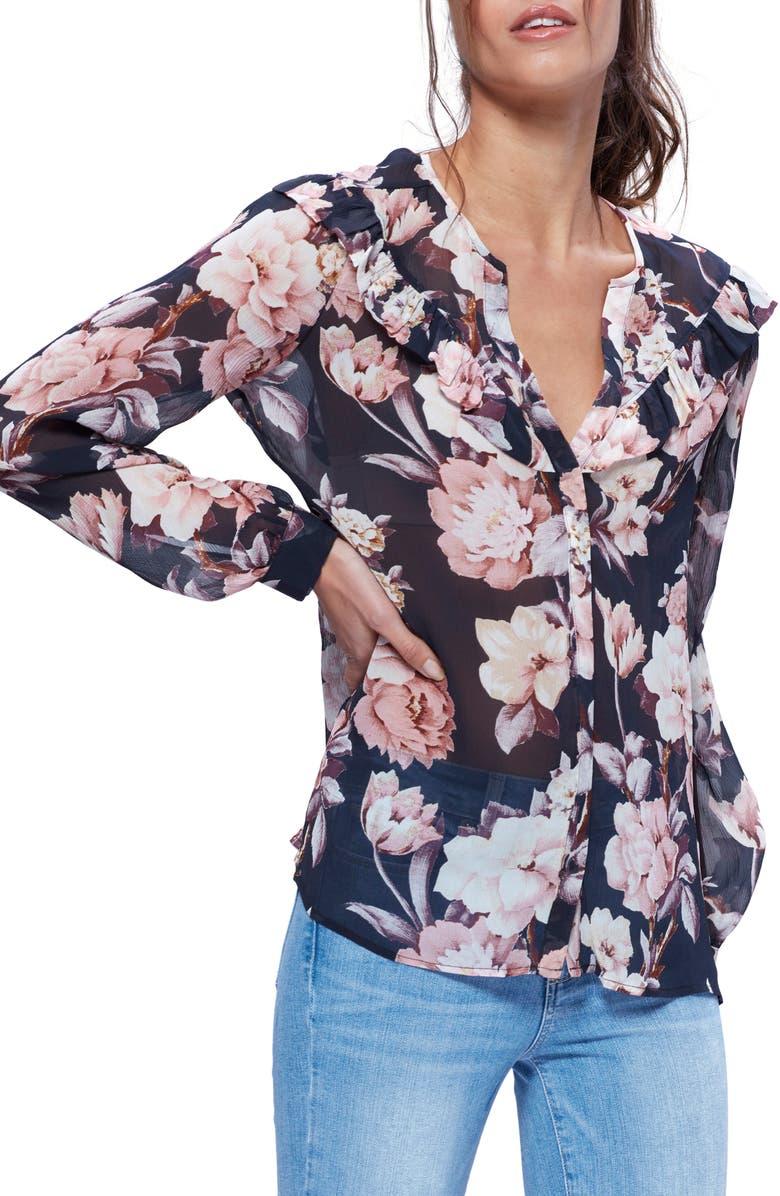 PAIGE Amore Silk Blouse, Main, color, 009