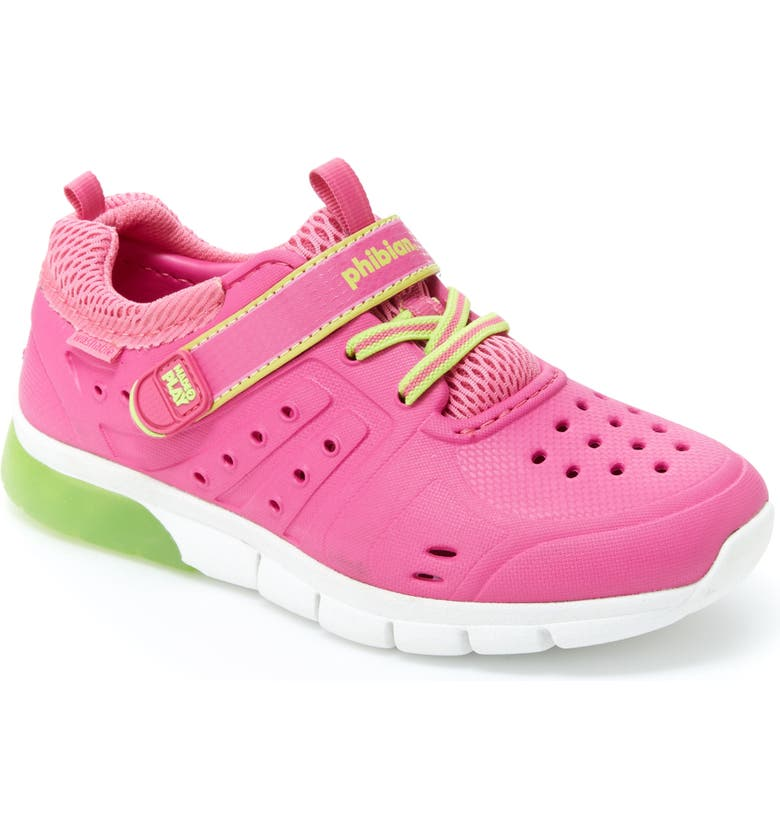 STRIDE RITE Made2Play<sup>®</sup> Phibian Light-Up Sneaker, Main, color, PINK/ LIME