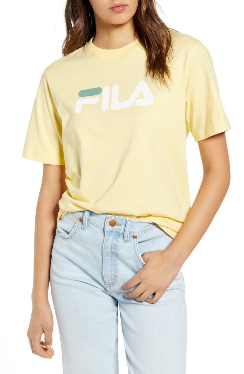 FILA Eagle Graphic Tee, Main, color, PALE BANANA/ WHITE