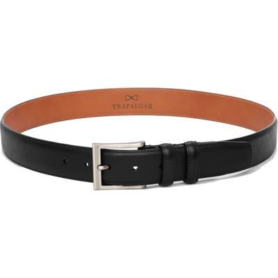 Trafalgar Corvino Leather Belt, Black