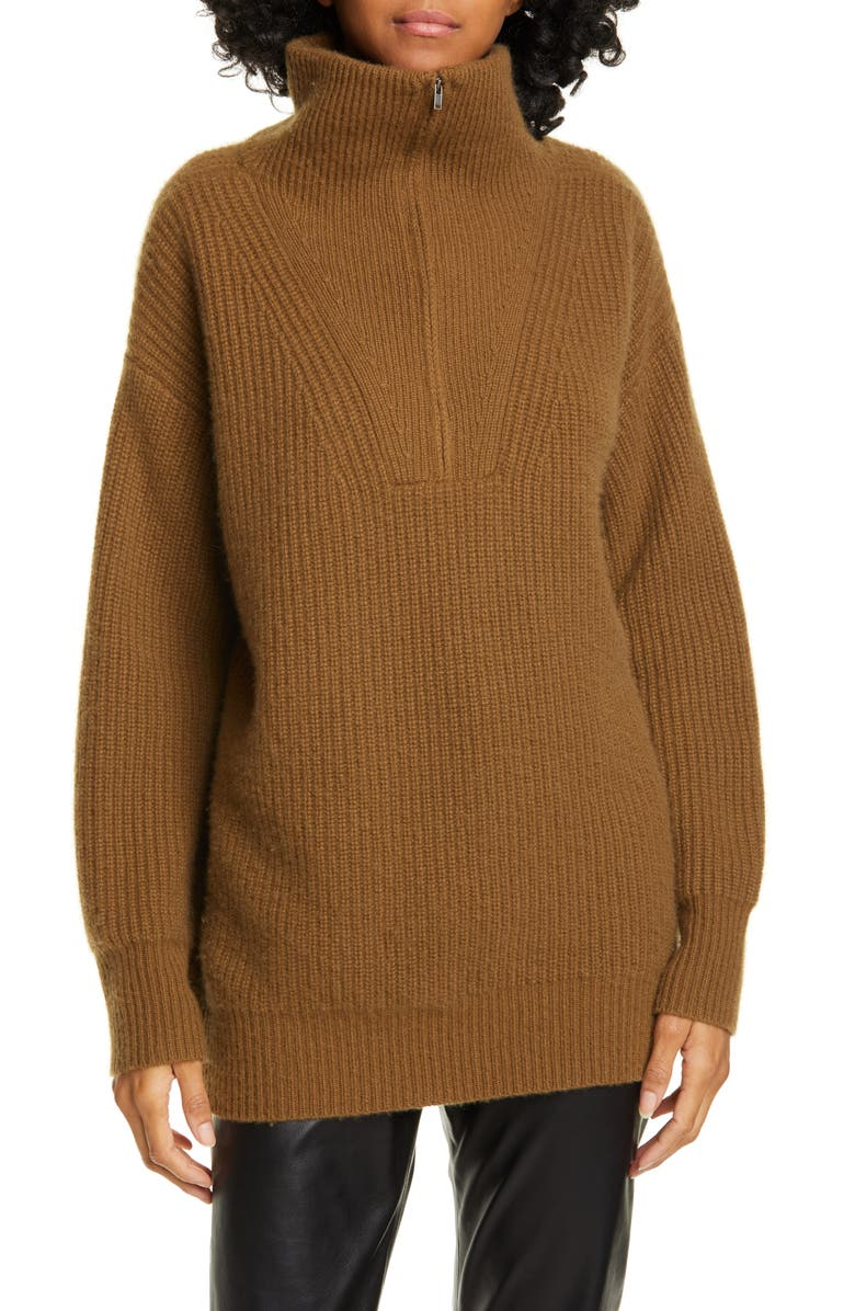 NILI LOTAN Beni Cashmere Sweater, Main, color, BOURBON