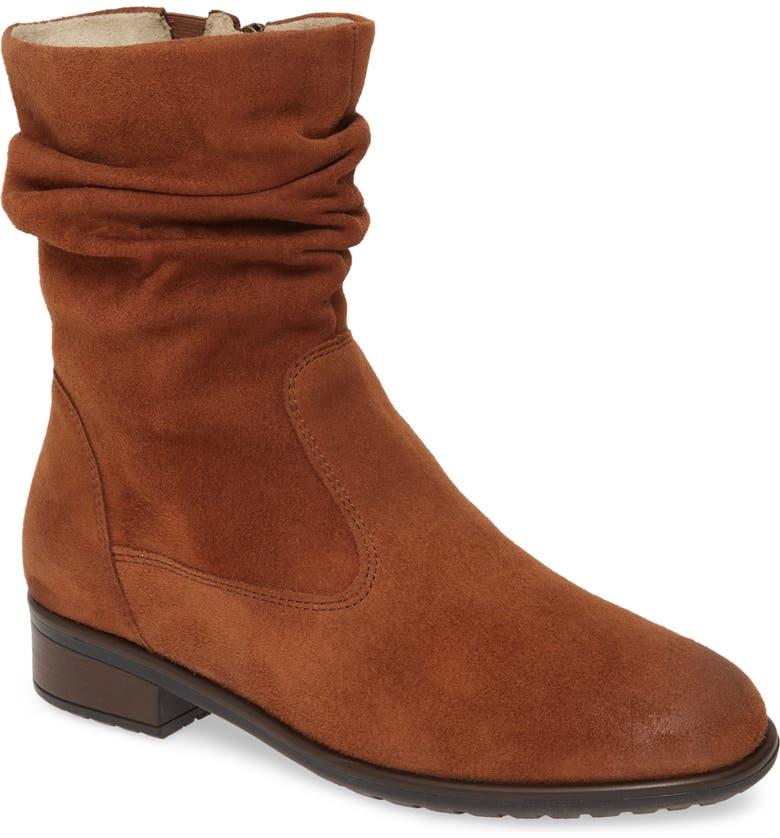 ARA Lexi Slouch Boot, Main, color, COGNAC SUEDE