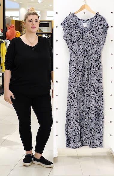 Print Flutter Sleeve Maxi Dress, sales video thumbnail