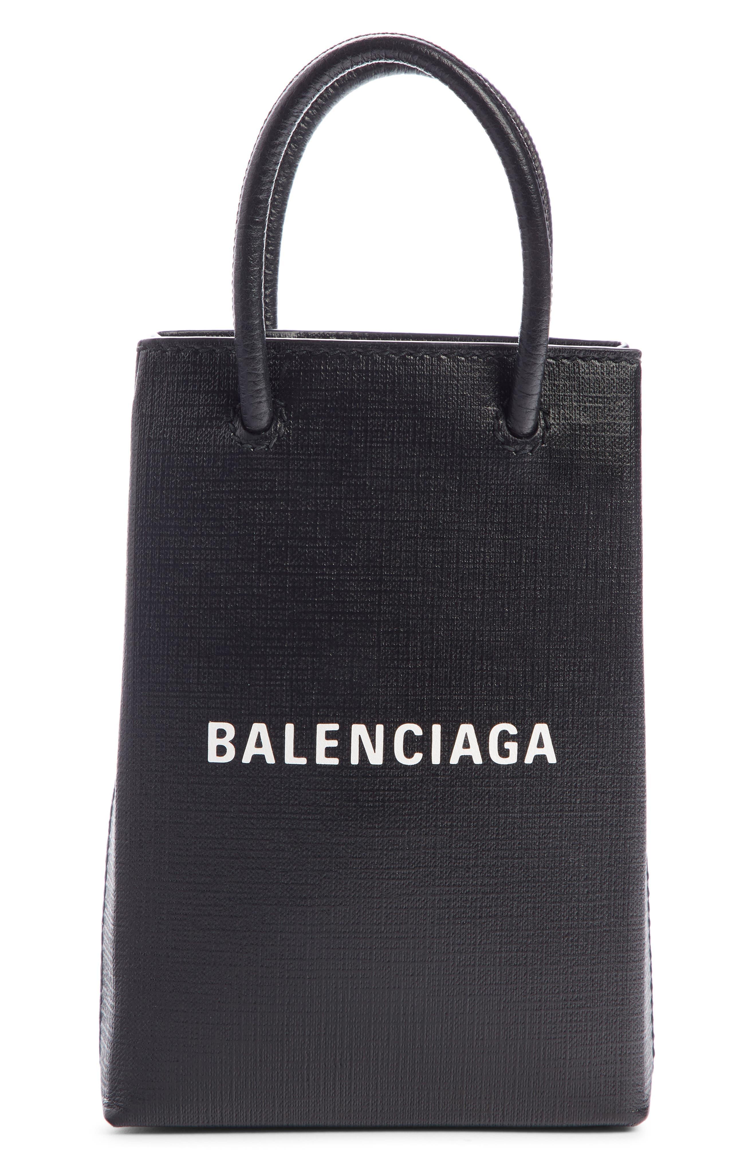 Balenciaga Shopping Leather Crossbody Phone Bag | Nordstrom