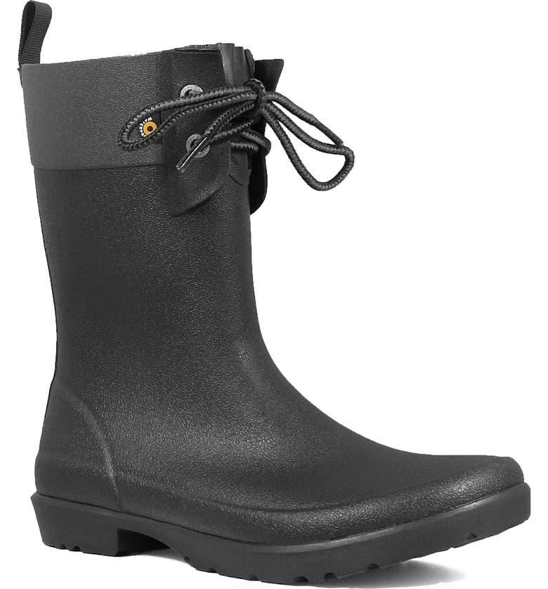 Bogs Floral Lace Up Waterproof Rain Boot Women