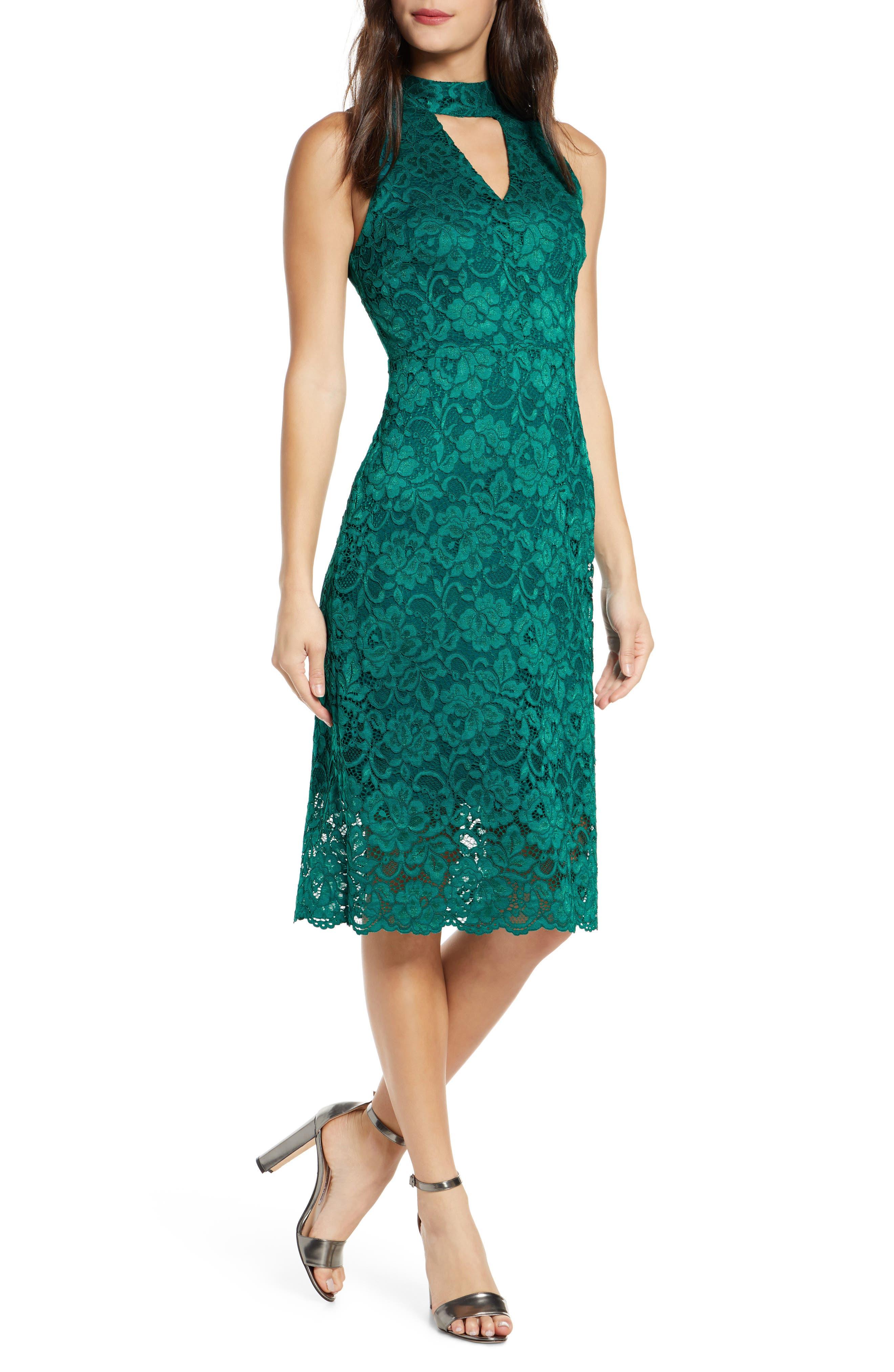 Image of Sam Edelman Keyhole Lace Sheath Dress