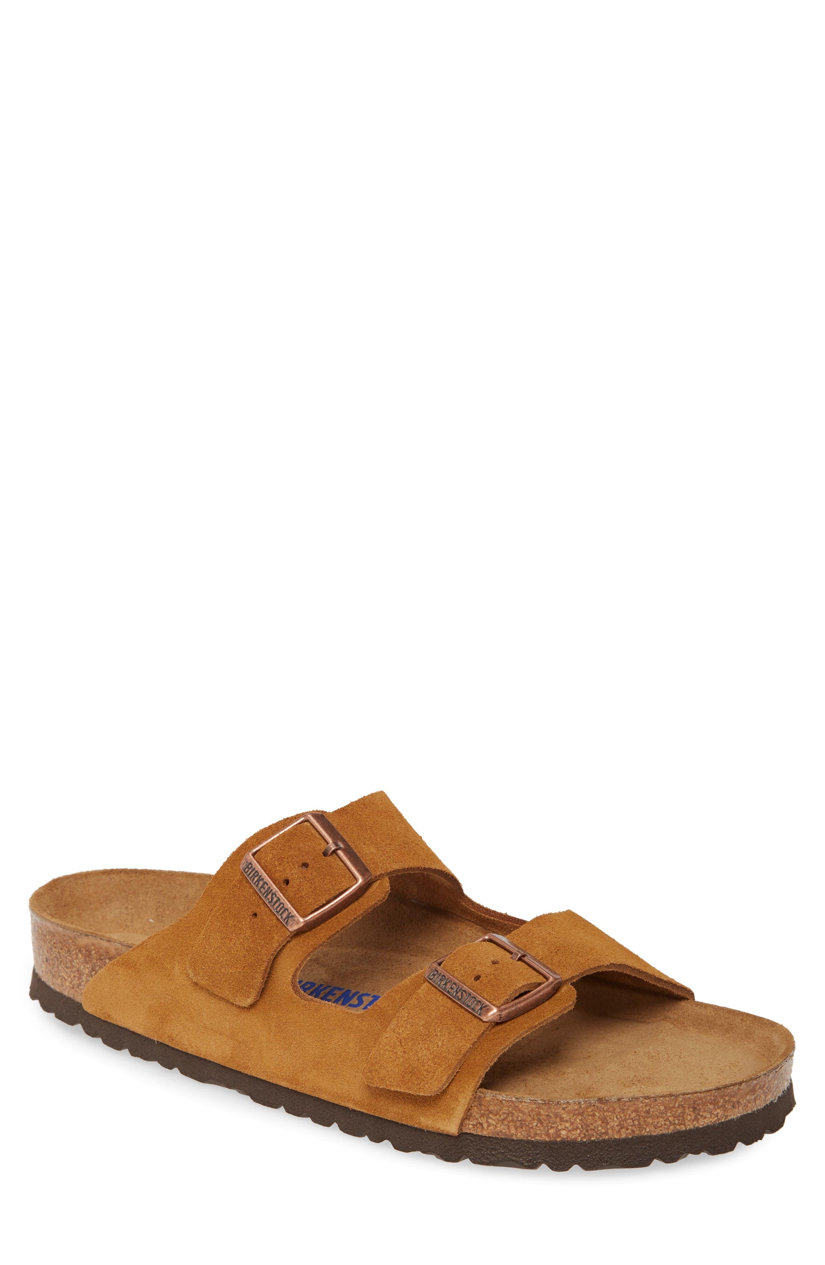 Retro Clothing for Men | Vintage Men's Fashion Mens Birkenstock Arizona Soft Slide Sandal Size 8-8.5US  41EU D - Brown $134.95 AT vintagedancer.com